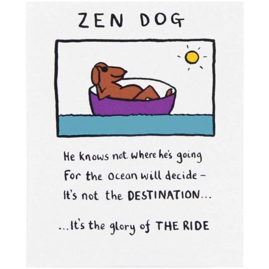 Zen Dog Card