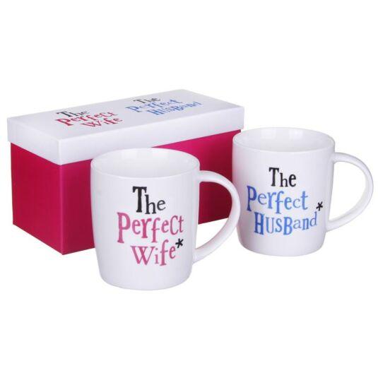 The Perfect Wife and Husband Mug Set