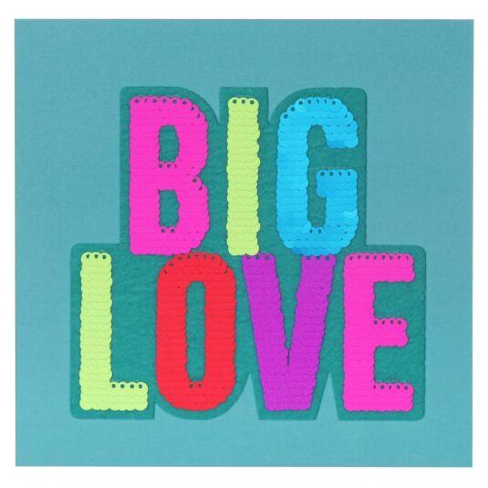 Shine Sequin Big Love Birthday Card