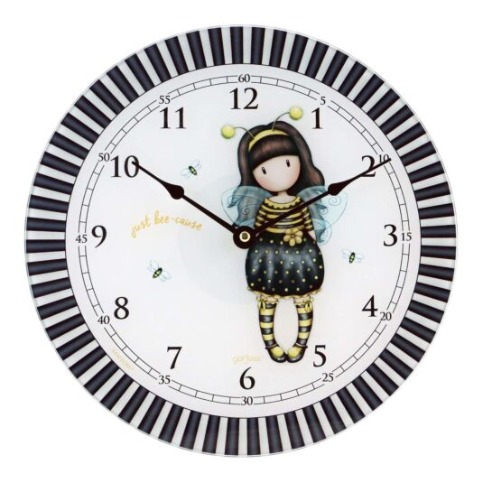 Bee-Loved Glass Wall Clock