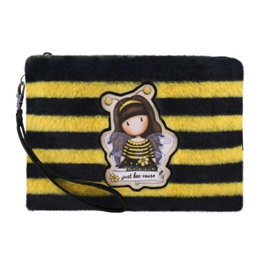 Bee-Loved Furry Accessory Pouch