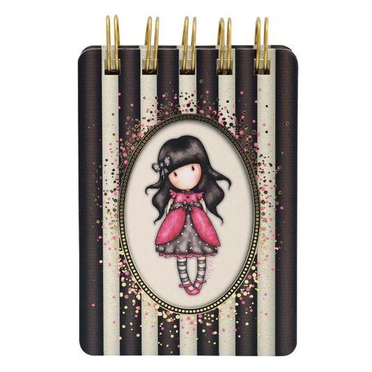 Ladybird Classic Stripe Mini Wiro-Bound Notebook