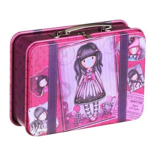 Sugar and Spice Suitcase Tin