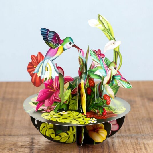 Pirouettes Card – Hummingbirds