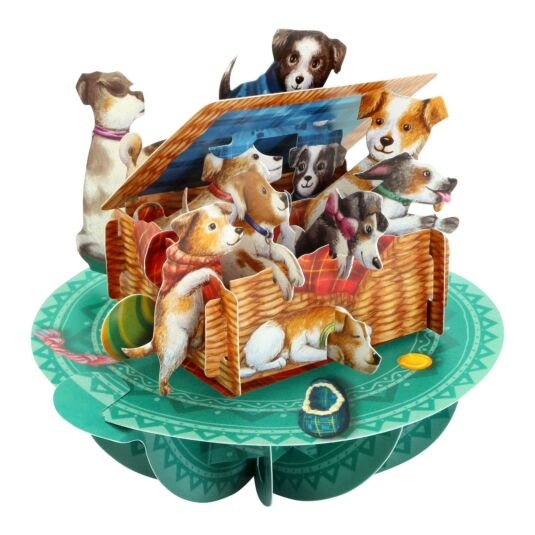 Pirouettes Card – Puppies in a Basket