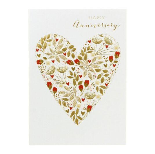 Happy Anniversary Heart Card