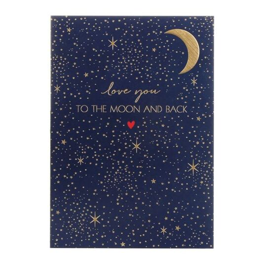 'Love You to the Moon and Back' Greetings Card