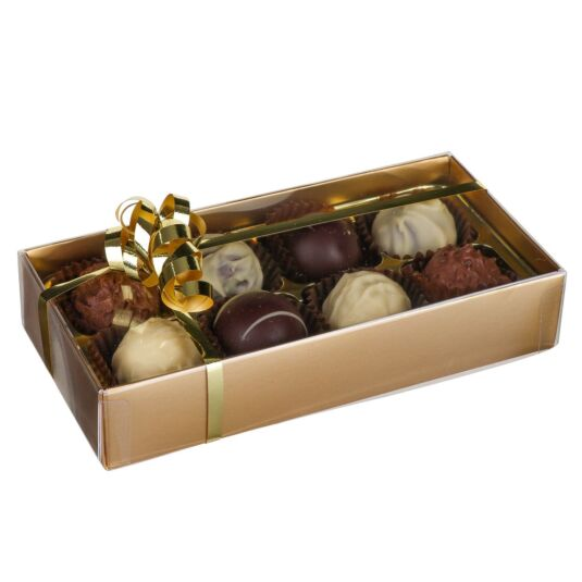8 Belgian Chocolate Truffles in Gold Presentation Box