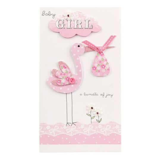 Second Nature 'Baby Girl' Card