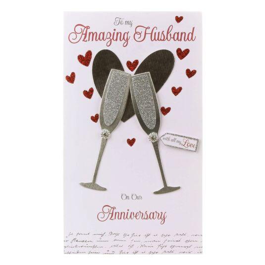 Amazing Husband Anniversary Card