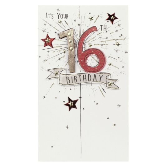 Exploding 16th Birthday Card