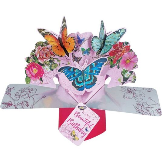 'Beautiful Birthday' Pop Up Card