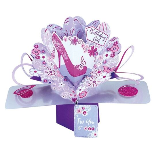 'Birthday Girl' Pop Up Card