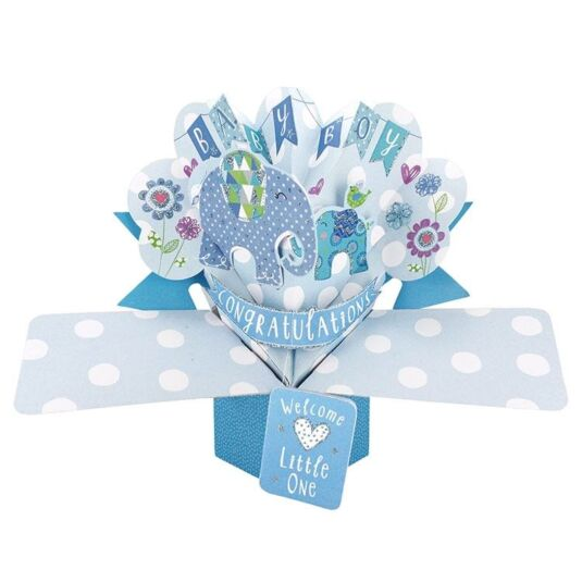 'Baby Boy' Pop Up Card