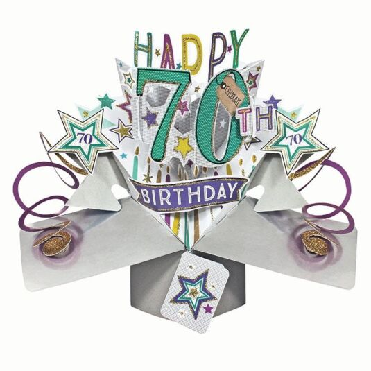 '70th Birthday' Pop Up Card