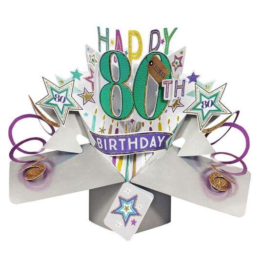 80th Birthday Pop Up Card