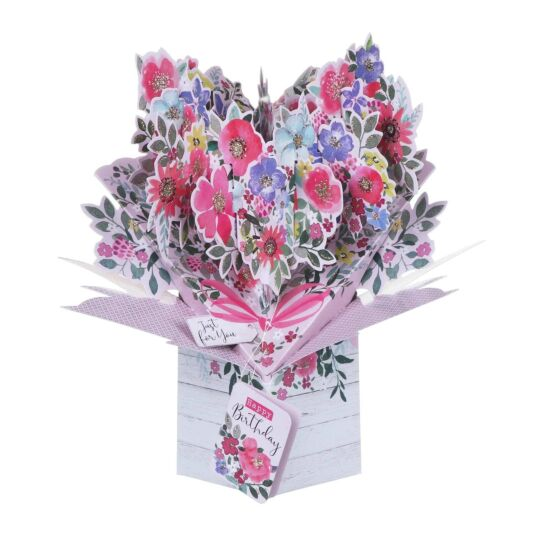 Floral 'Just for You' Pop Up Card