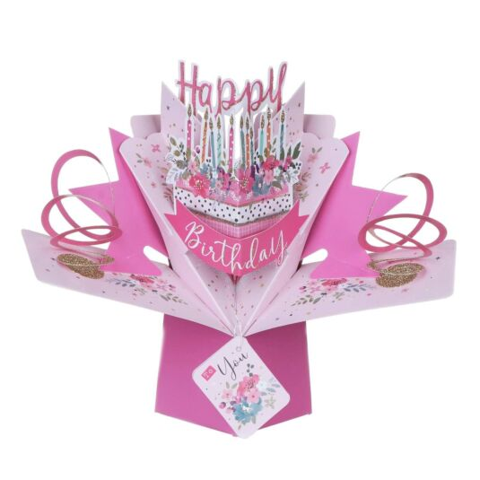 Excellent Birthday Cake Pop Up Card Campus Gifts Personalised Birthday Cards Veneteletsinfo