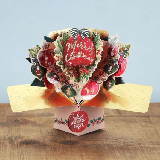 'Baubles' Pop Up Christmas Card