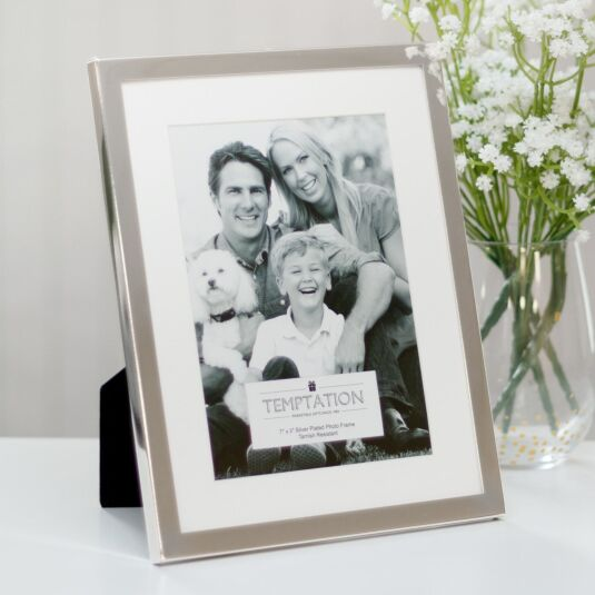 Silver-Plated Mounted Frame 7x5