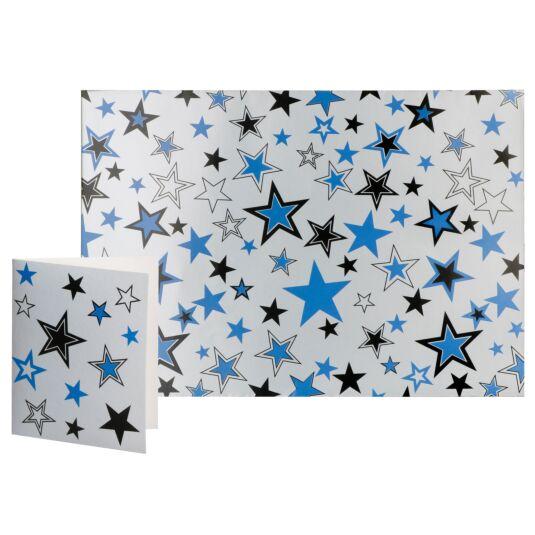 Simon Elvin Silver Star Designer Gift Wrap