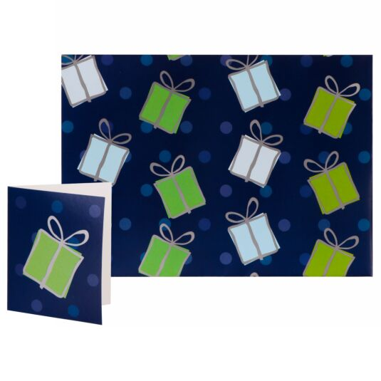 Simon Elvin Navy Presents Designer Gift Wrap