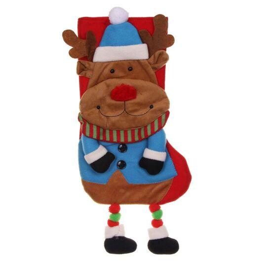 Deluxe Plush Reindeer Stocking
