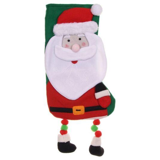 Deluxe Plush Santa Stocking