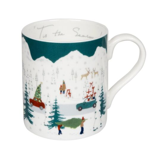 Home for Christmas Tis the Season Boxed Mug