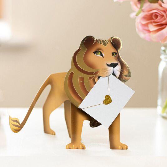 Leo Lion 3D Greeting Card