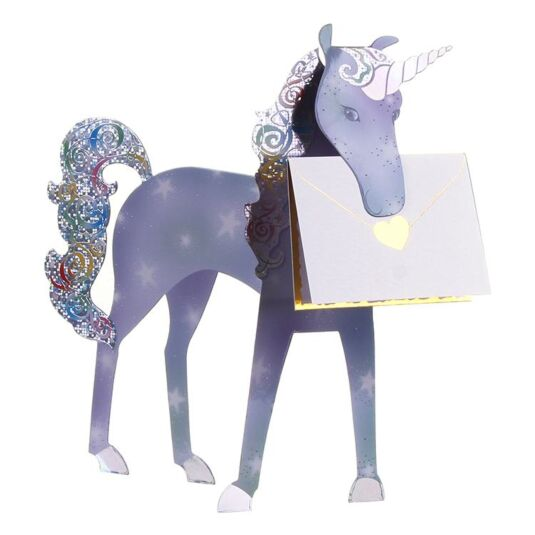 Unicorn 3D Greeting Card