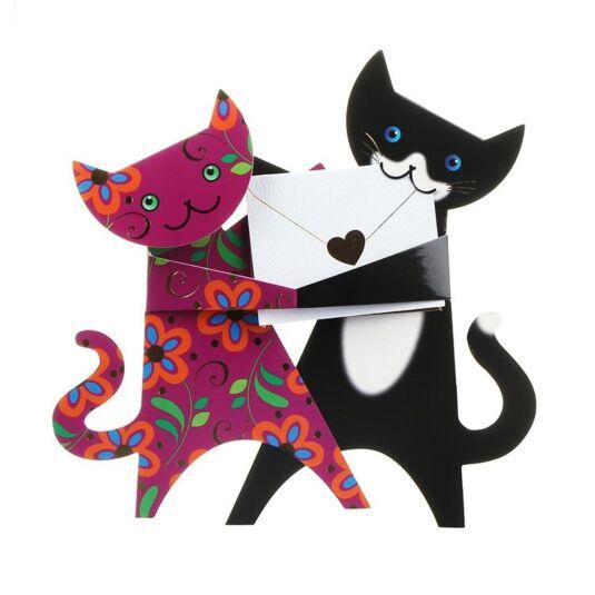 Dancing Cats Greetings Card
