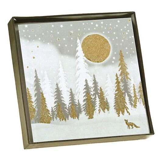 Winter Forest Scene - Box of 6 Christmas Cards