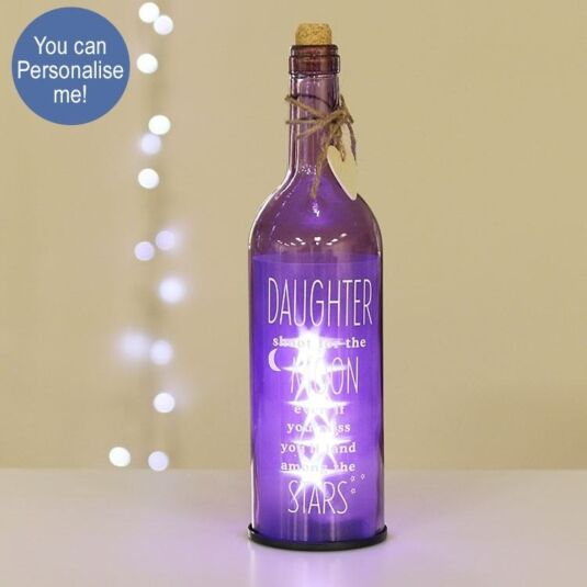 'Daughter' Purple Light Up LED Bottle
