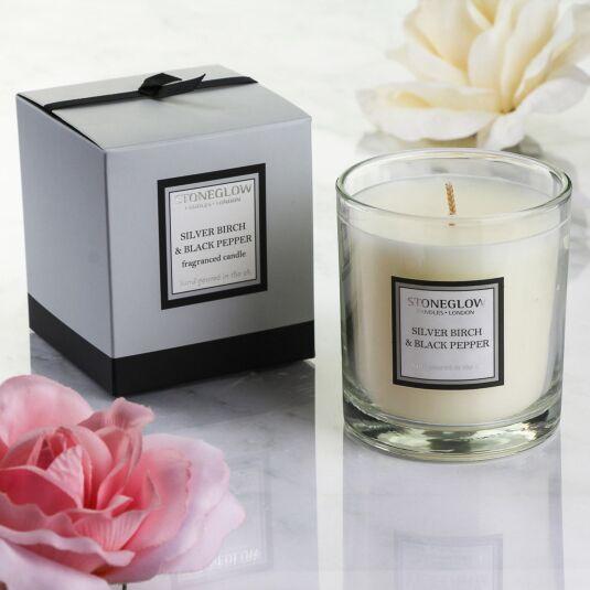 Modern Classics Silver Birch & Black Pepper Fragranced Candle