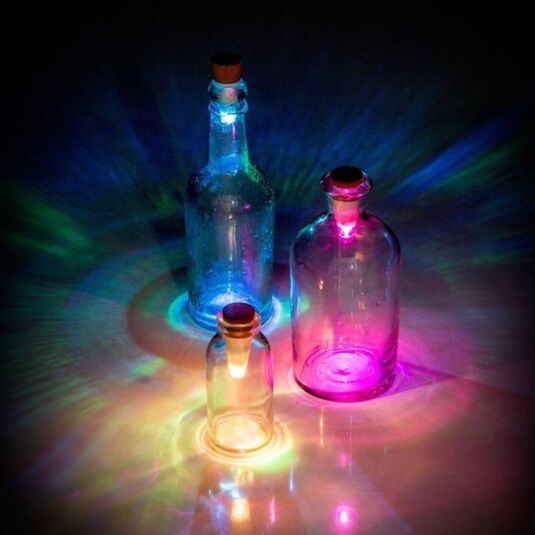 Rechargeable Multicolour Bottle Light