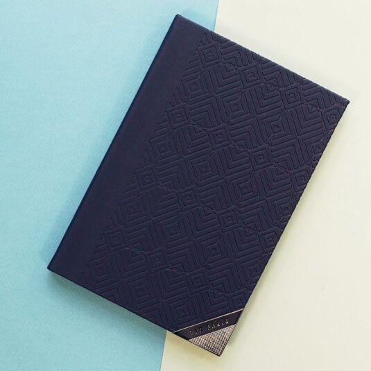 01abcc54b4801e Ted Baker Blue Cadet A5 Notebook
