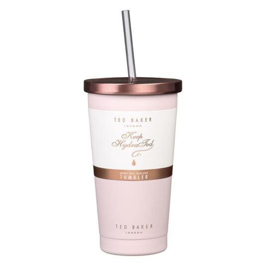 Pink Quartz Tumbler and Straw