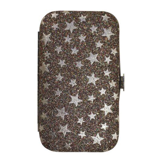 Silver Glitter Stars Manicure Set