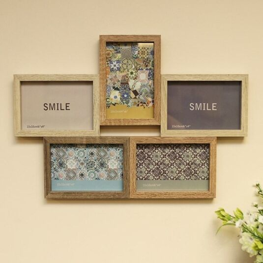 Collage Frame with Five Displays