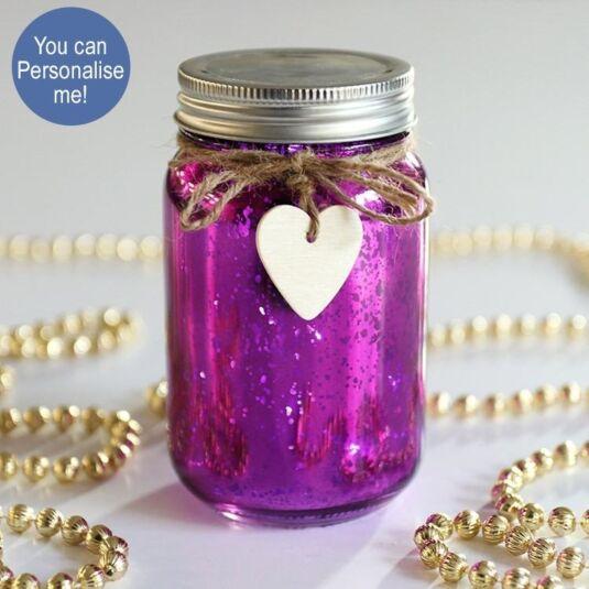 Purple LED Firefly Jar