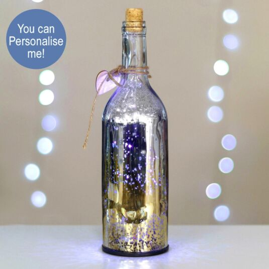 Champagne & Silver LED Firefly Bottle