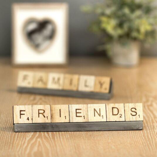 'Friends' Scrabble Tiles & Stand