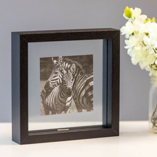 Monochrome Black Frame with Zebra Print