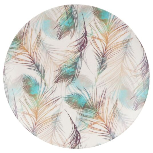Bamboo Fibre Feather 10 Inch Plate