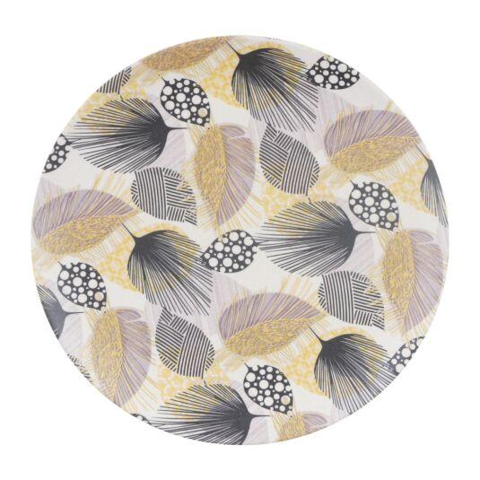 Bamboo Fibre Leaf 8 Inch Plate