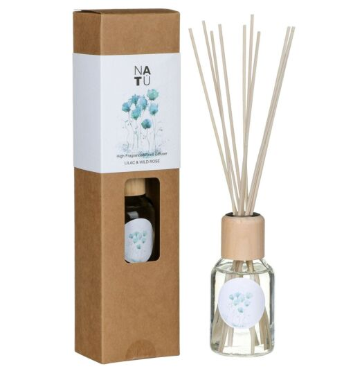 NATU Lilac & Wild Rose 100ml Reed Diffuser