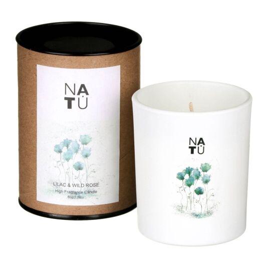 NATU Lilac & Wild Rose Fragranced Candle
