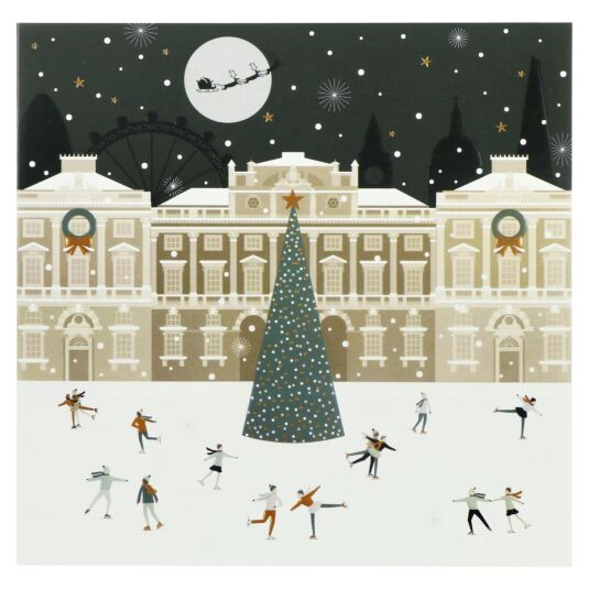 'London Skaters' Set of 8 Luxury Christmas Cards
