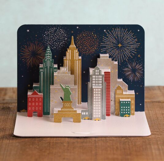 Celebrations Over New York 3D Card